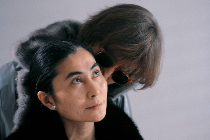 "In November of 1980, a few days before John Lennon untimely death on December 8, photographer Allan Tannenbaum had unique and total access to Lennon and his wife Yoko Ono, who were emerging from five years of seclusion, ready to release a new album, ""Double Fantasy."" Many of the photographs never released before are now in the book ""John & Yoko, A new York Love Story"", release by Insight Editions, November 2007.///John Lennon and Yoko Ono during filming of the ""Starting Over"" video."