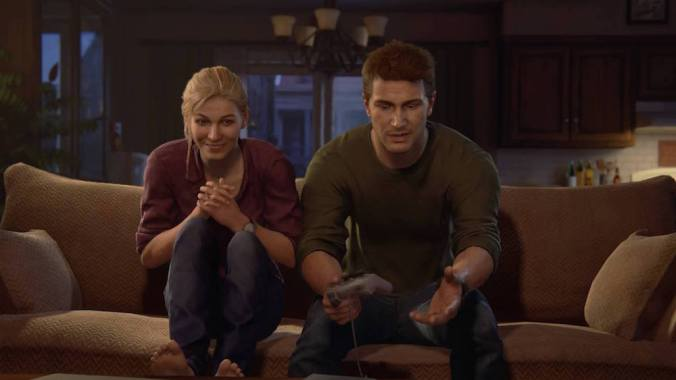 Uncharted 4 Nate Elena playstation